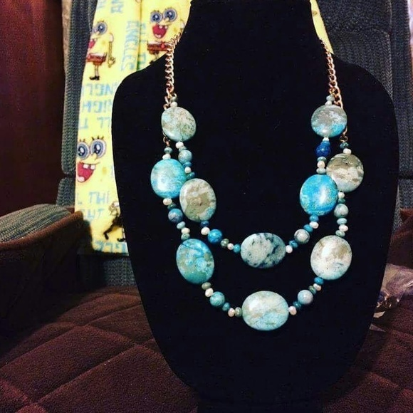 Carrie's Big Beads Jewelry - A ocean necklace